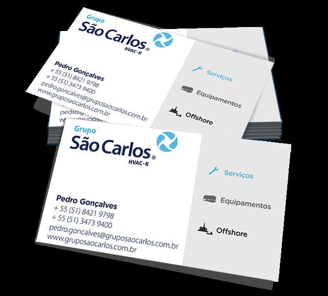 Extremamente Cartão de visita Grupo São Carlos | AlfaBeta Comunicação HU31