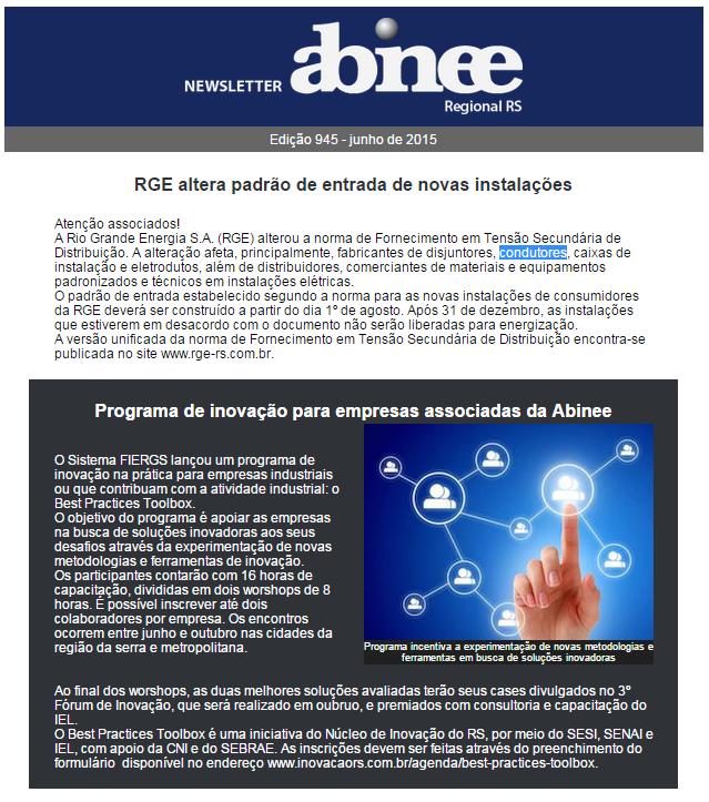 Newsletter Abinee